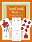 Word Work Station / Center August to December