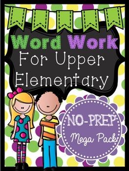 Word Work for Upper Elementary / No-prep vocabulary center
