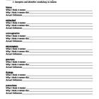 Word Work- prior knowledge activity