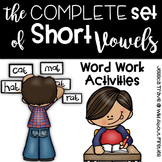 Word Work with Short Vowels {The Complete Set!}