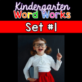 Kindergarten Word Works Daily:Set #1 (Interactive PDF & Pr