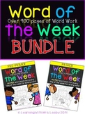 Word of the Week - Bundle - Dolch Pre-Primer and Primer {9