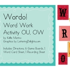 Wordo Board Game for OU, OW