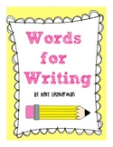 Words for Writing {2 printable books for writing}