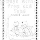 Workbooks for Readers: Days with Frog and Toad (ANSWER KEY)
