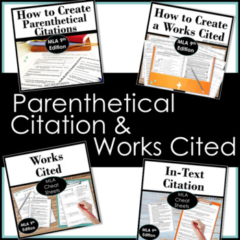 Bundle!  Works Cited & Parenthetical Citation Step-by-Step Guides