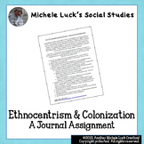 World History Ethnocentrism Age of Exploration Journal Assignment