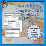 World History SEMESTER 2 COMPLETE UNITS - Everything for W