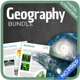 Worksheet Bundle (Religions, World Wonders, Oceans & Natur