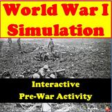 World War I Simulation – Pre-War Interactive Activity (Wor
