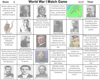 World War I Match Game - Bill Burton