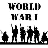 World War I Unit: Webquest, Map, Project, Readings, Graphi