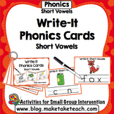 Short Vowels- Write It Phonics Cards