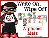 Write On, Wipe Off Alphabet Mats {Handwriting and Letter F