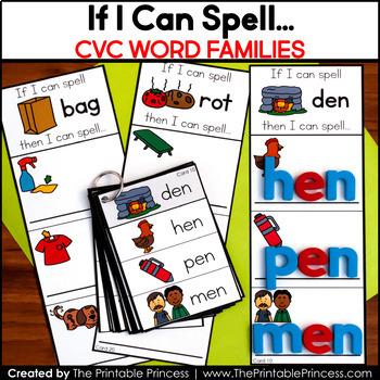 CVC Words Short Vowel Word Building Cards