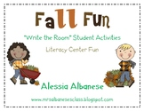 Write the Room Literacy Center Student Activities - Fall Theme