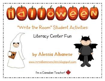 Write the Room Literacy Center Student Activities - Halloween