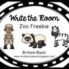 Write the Room~ Zoo FREEBIE