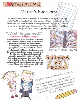 Writer's Workshop Note Home