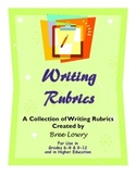 Writing Rubrics - A Comprehensive Packet of Rubrics for Ev