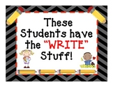 "Writing Bulletin Board Display: ""The Write Stuff"""