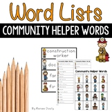 Writing Center Tools- Community Helper Words