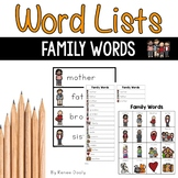 Writing Center Tools- Family Words