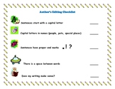 Writing Checklist - self-editing checklist for primary grades