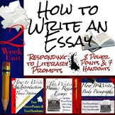 How to Write an Essay Curriculum Unit: Body Paragraphs, In