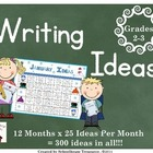 Writing Ideas for the Year!  Grades 2-3