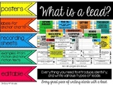 Writing Leads (hooks)... posters, labels, examples, activi