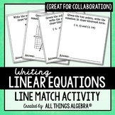 Writing Linear Equations Line Match & Collaboration Activity