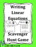 Writing Linear Equations Scavenger Hunt Game