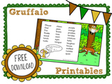 Free Printables: The Gruffalo CCSS Activities for Kindergarten