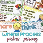 Writing Process Posters Chevron - Easy for Kinders