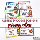 Writing Process Posters Primary Colors - Easy for Kinders