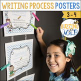 Writing Process Posters on Chevron: Steps in the Writing Process