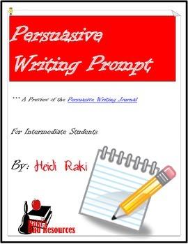 Writing Prompt: Genre Persuasive