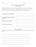 Writing Prompt Narrative: Grades 3-5