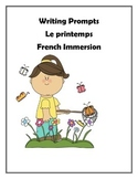 French Writing Prompts - Le Printemps