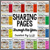 Writing Prompts for Class Share Time ~ Sharing Pages Throu