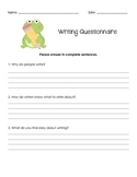 Writing Questionnaire - First Week Activity