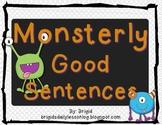 Writing Sentences Halloween Theme - Naming and Telling Parts