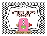 Writing Steps Posters--Monsters {Black and White Backgrounds}