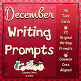Writing Task Cards: December (Grades 7, 8, 9, 10)