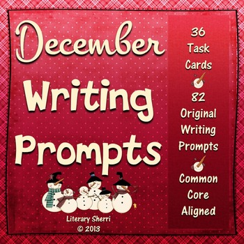 Writing Task Cards: December