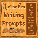 Writing Task Cards: November (Grades 7, 8, 9, 10)