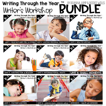 Writers Workshop :Writing Through the Year Bundle Complete Set 1-8{CC Aligned}