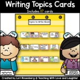 Writing Topics Cards