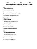 Writing Trait Checklist